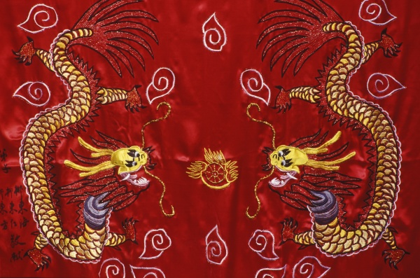 close up of a dragon on