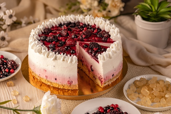 still life of homemade cheesecake
