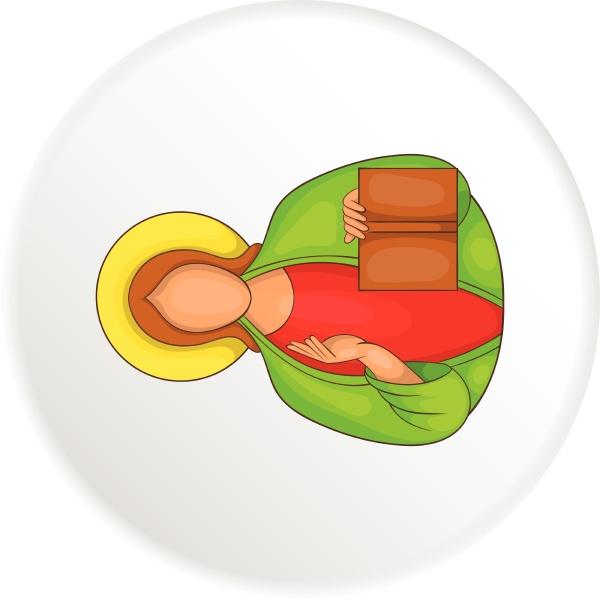 jesus icon flat style