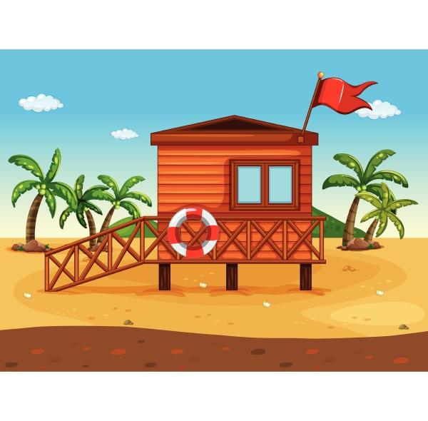 a lifeguards house