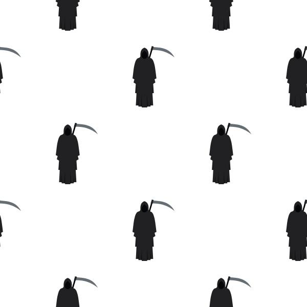 grim reaper pattern seamless