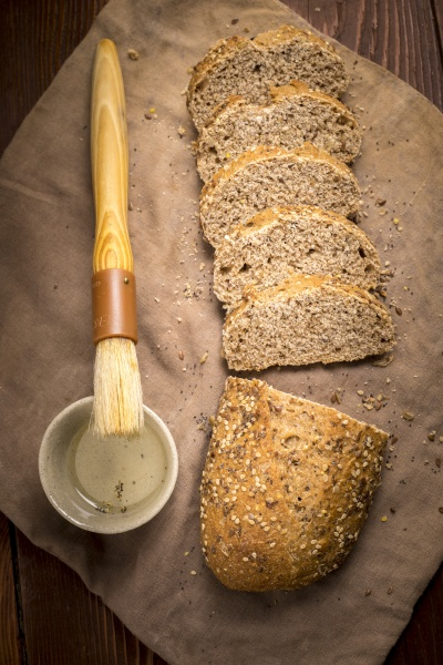 seeded multigrain bread with olive oil
