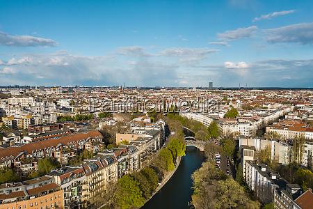 germany berlin aerial view of landwehr