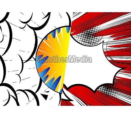 pop art comic design colored background